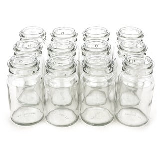 Clear 8-ounce Glass Jar (Case of 12)