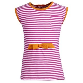Pink Platinum Girls' Striped Sleeveless Post-Swim Cover-up