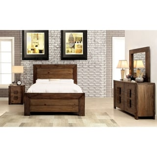 Furniture of America Kailee Rustic 4-piece Natural Tone Platform Bedroom Set