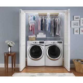 ClosetMaid ShelfTrack 4ft to 6ft Closet Organizer Kit, White