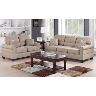 Pisa Loveseat and Sofa Upholstered in Poly Fiber