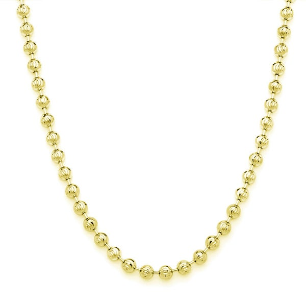 Decadence 14k Gold 2.50mm Moon Chain