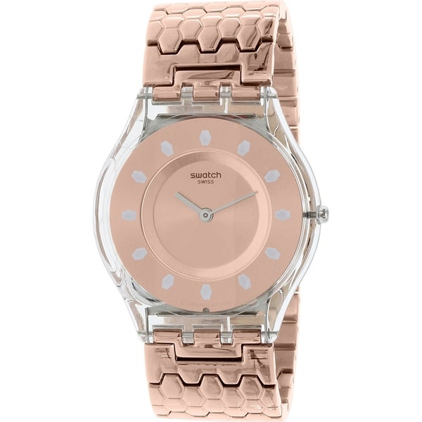 Swatch Women's Rose Goldtone Stainless Steel Skin SFE100GB Swiss Quartz Watch