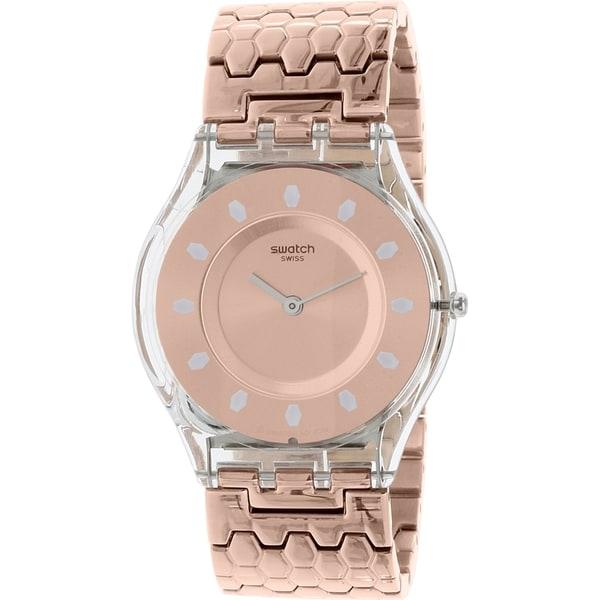 Swatch Women's Rose Goldtone Stainless Steel Skin SFE100GB Swiss Quartz Watch