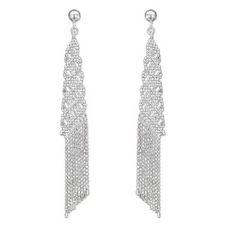 Handcrafted Sterling Silver 'Chiang Mai Fringe' Earrings (Thailand)