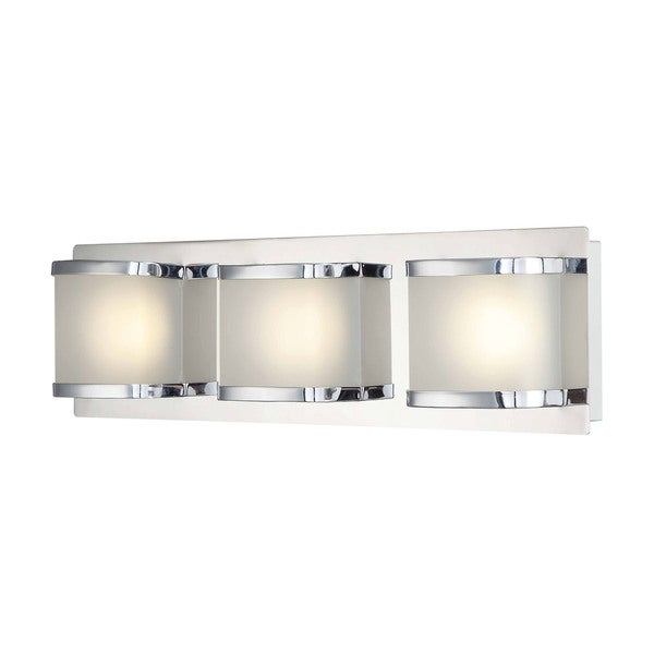 Alico Bandeaux Chrome and Opal Glass 3-light LED Vanity