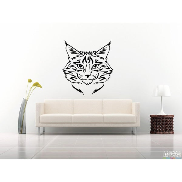 Muzzle Maine Coon Cat Wall Art Sticker Decal
