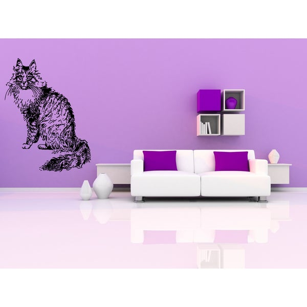 Norwegian Forest Cat looker Wall Art Sticker Decal