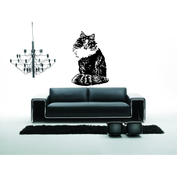 Norwegian Forest Cat Breed Wall Art Sticker Decal