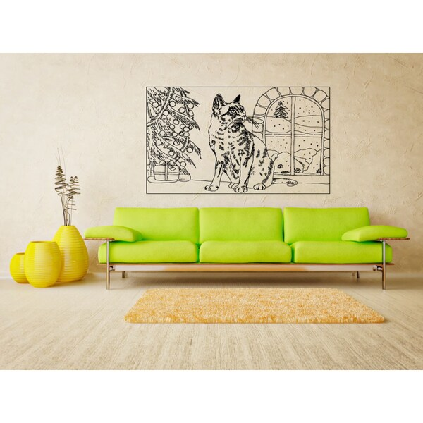 Nebelung Cat Breed Cat Kitten Pet Wall Art Sticker Decal