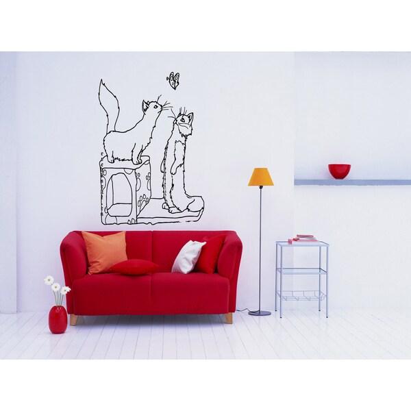 Munchkin Cat Kittens Wall Art Sticker Decal