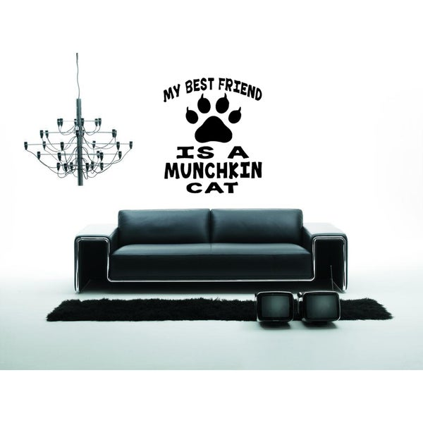 My best friend Munchkin Cat Breed Wall Art Sticker Decal