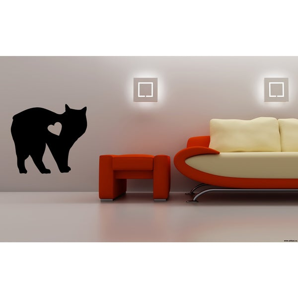 Manx Cat Breed A heart Wall Art Sticker Decal