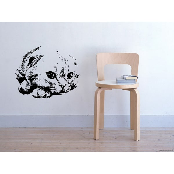 Scottish Fold Cat Cutie Wall Art Sticker Decal