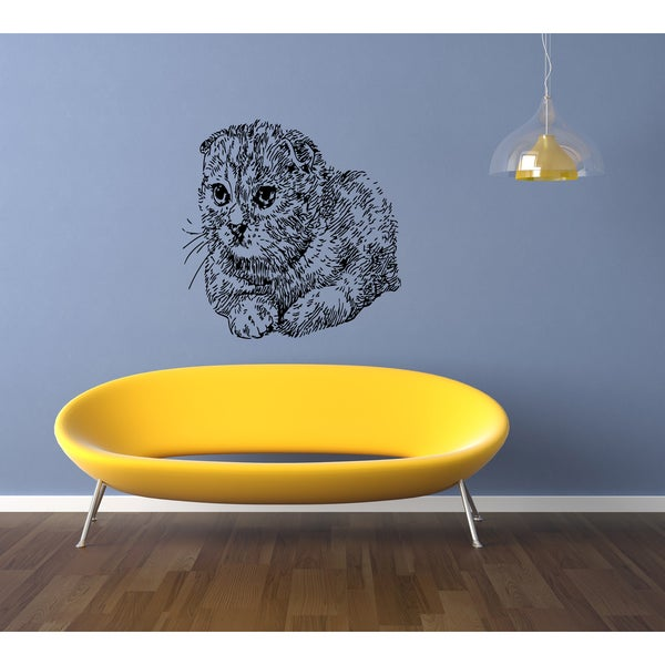 Scottish Fold Cat Wall Art Sticker Decal