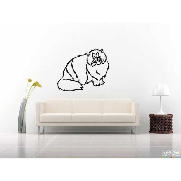 Persian Cat Breed looker Wall Art Sticker Decal