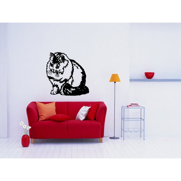 Persian Cat Breed Cat Kitten Pet Wall Art Sticker Decal