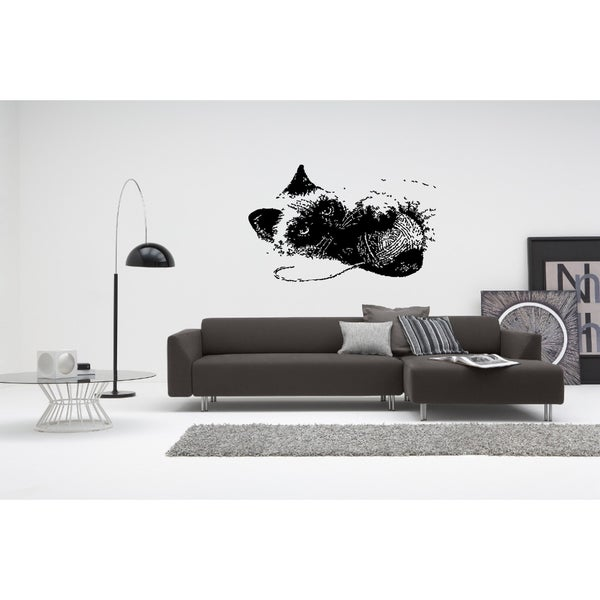 Siamese Cat Breed Playing Wall Art Sticker Decal