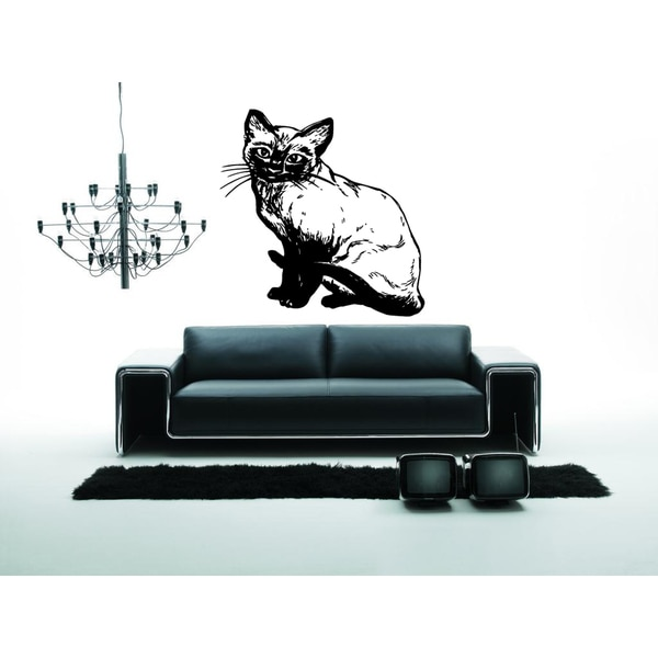 Cutie Siamese Cat Breed Wall Art Sticker Decal