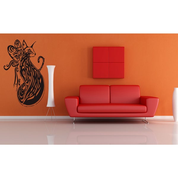 Butterfly Siamese Cat Breed Wall Art Sticker Decal