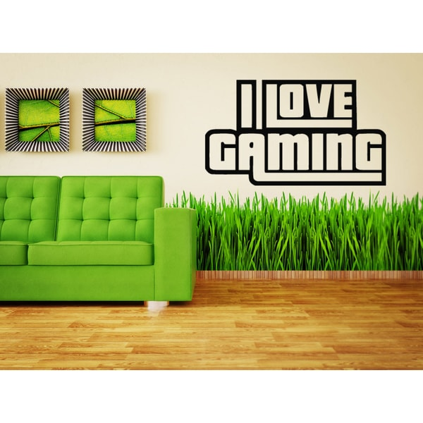 I love Gaming Gamer Geek Games Wall Art Sticker Decal