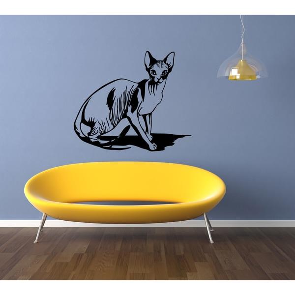 Stolen Sphynx Cat Breed Wall Art Sticker Decal