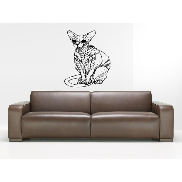 Business Sphynx Cat Breed Cat Kitten Wall Art Sticker Decal