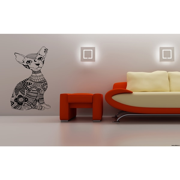 Indian Sphynx Cat Breed Cat Kitten Wall Art Sticker Decal