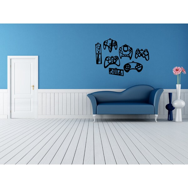 Game Console Joystick Wall Art Sticker Decal