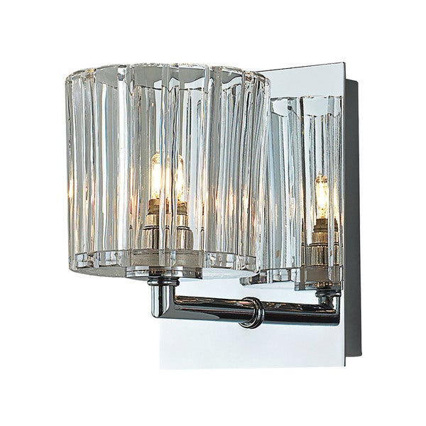 Alico Sprocket Chrome and Clear Sprocket Cut Glass 1-light Vanity
