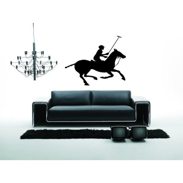 Graceful Polo Horse Wall Art Sticker Decal