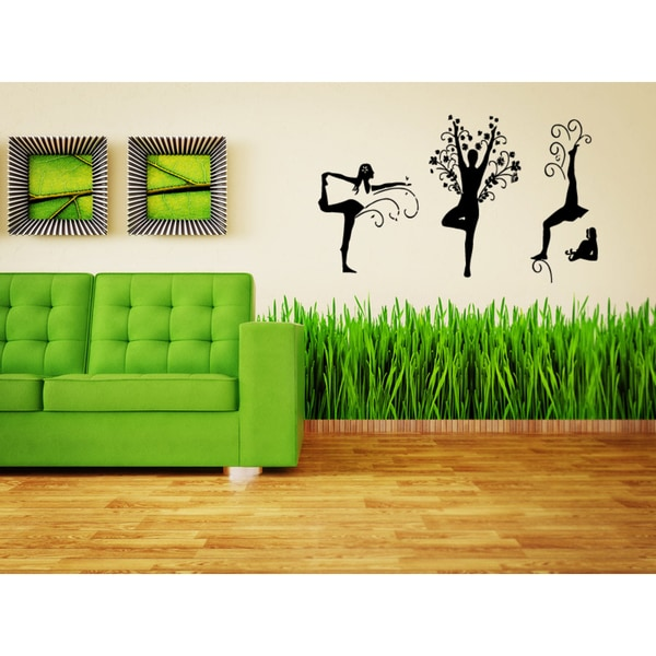 Yoga Beautiful Girls Wall Art Sticker Decal