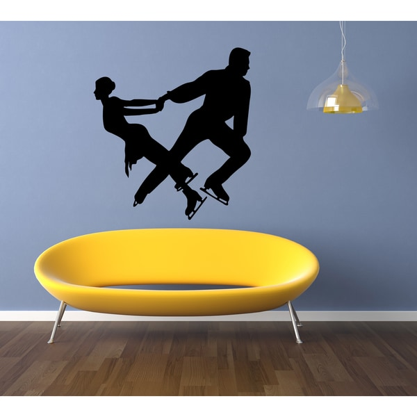 Figure Skating Dancing on Ice Wall Art Sticker Decal