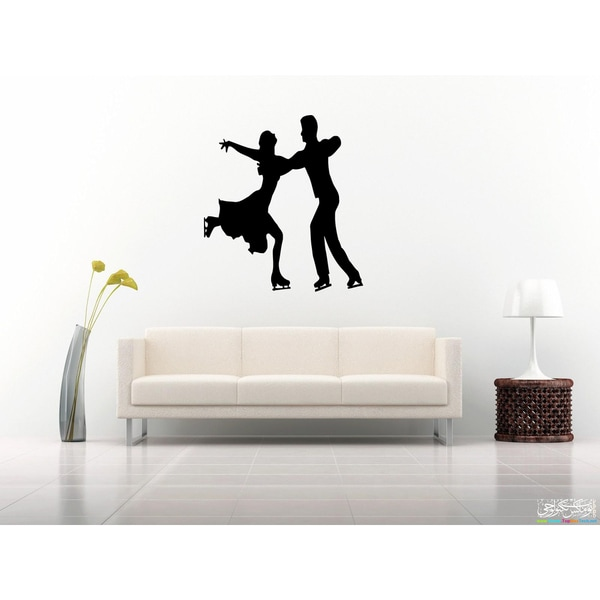 Figure Skating Dancing couple Wall Art Sticker Decal