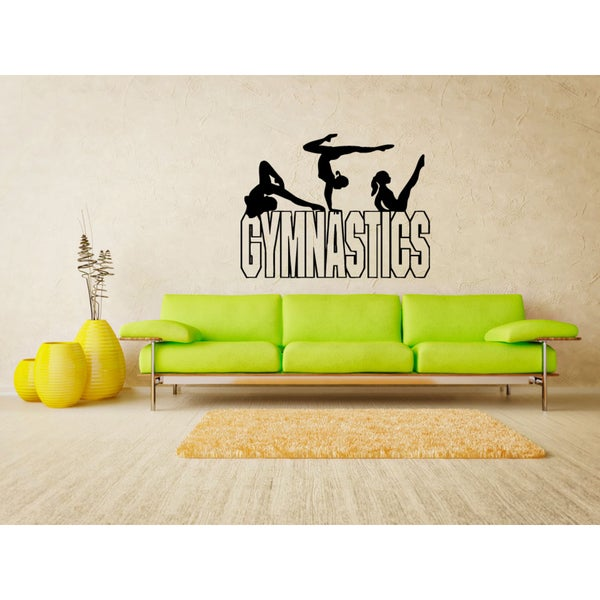 Gymnastics projectile beam Wall Art Sticker Decal
