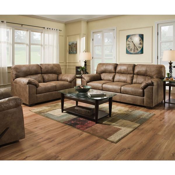 Simmons Upholstery Topgun Saddle Sofa