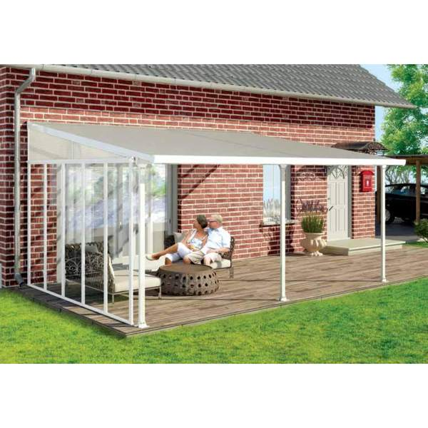 Feria White 10x24 Patio Cover