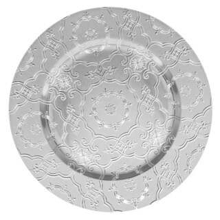 Vintage Silver Set of 4 Round Charger Plate