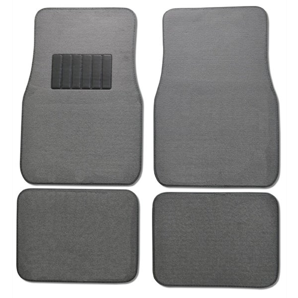 Premium Carpet Grey Mats (Set of 4)