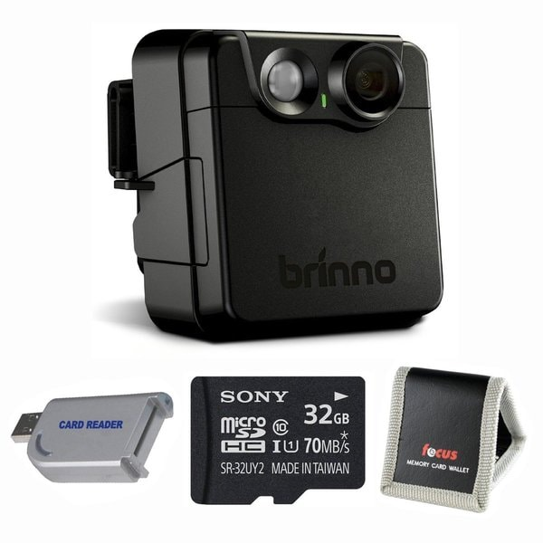 Brinno MAC200DN Wireless Motion Activated Security Camera + Focus Memory Card Wallet & Sony 32GB micro Card + MMC USB Reader