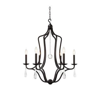 Crystorama Manning Collection 6-light English Bronze Chandelier