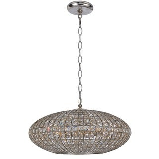 Crystorama Solstice Collection 6-light Antique Silver Chandelier