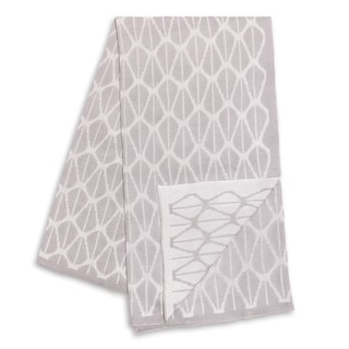 The Peanut Shell Grey and White Reversible Blanket
