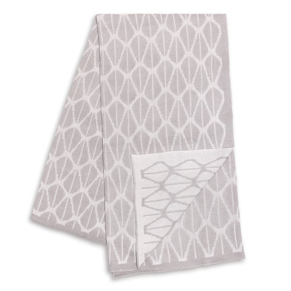 The Peanut Shell Grey and White Reversible Bamboo Blanket