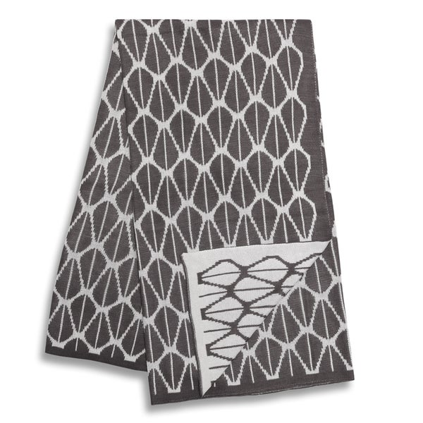 The Peanut Shell Charcoal and White Reversible Bamboo Blanket