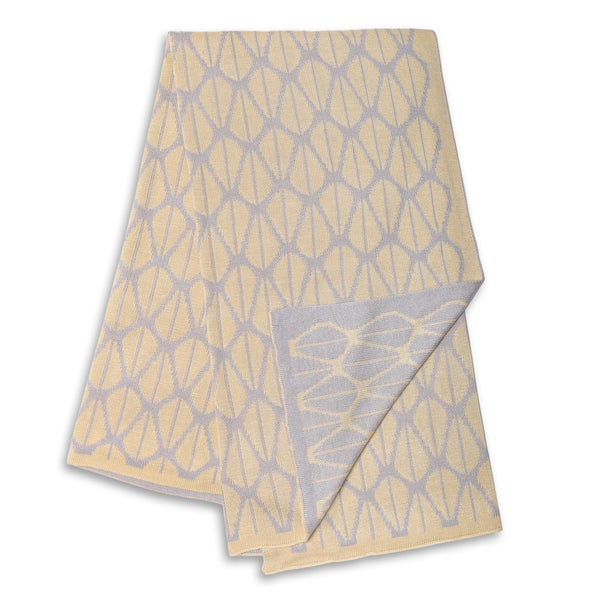 The Peanut Shell Grey and Yellow Reversible Bamboo Blanket