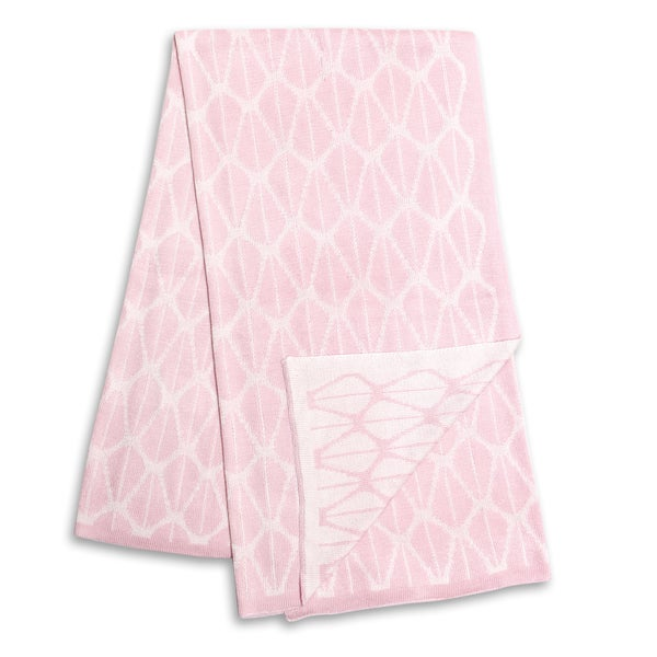 The Peanut Shell Pink and White Reversible Bamboo Blanket