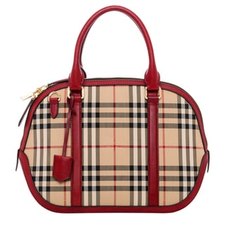 Burberry Small Orchard in Horseferry Check Satchel