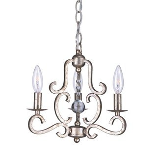 Crystorama Orleans Collection 3-light Olde Silver Mini Chandelier