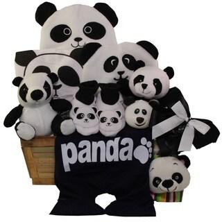 Panda Mania Neutral Baby Bear Gift Basket